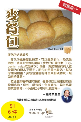 Wheat Dinner Roll 8 by 12 Poster