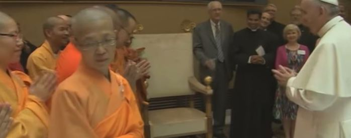 Pope met with Buddhists leaders June 2015